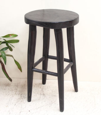 Wooden Bar Stool - Black