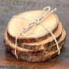 Wooden Coasters 4pk