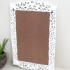 Hand Carved Wood Framed Mirror - Antique White $398