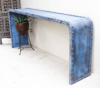 Studded Blue Console