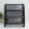 Black Trolley Shoe Stand