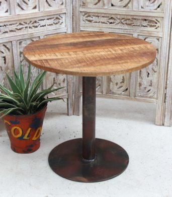 Wooden/Iron Cafe Table