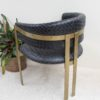 Black Woven Leather Chair