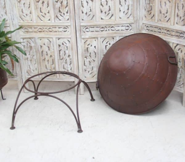 Fire Pit/Log Holder with Stand - Barron Imports