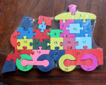 Double Sided Number/Alphabet Puzzle - Train