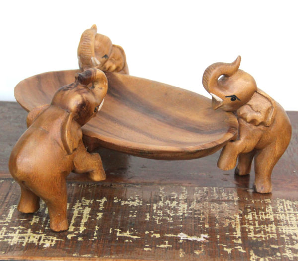 Recycled Teak Elephant Tray - TEMPORARILY OUT OF STOCK