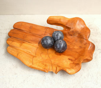 Hand Bowl - Recycled Teak