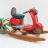 Recycled Teak Rocking Scooter - Red - Temporarily Out of Stock