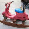 Recycled Teak Rocking Scooter - Pink