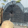 Vintage Wrought Iron Solid Gate