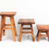 Recycled Teak Stool - Medium Square - Temporarily out of stock