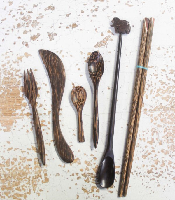 Coconut Wood Utensils - Barron Imports