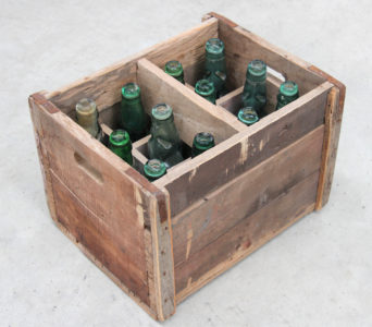 1930's Style Soda Bottles with Crate from India
