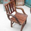 Recycled Wagon Teak Chair with Arms