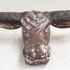 Wooden Hand Carved Bull Head - SOLD