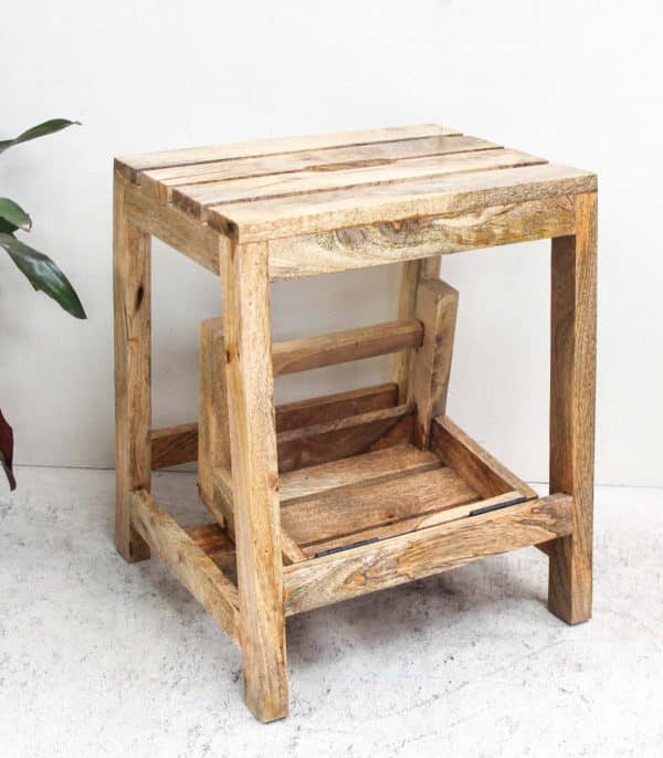 Teak Folding Step Stool - Barron Imports