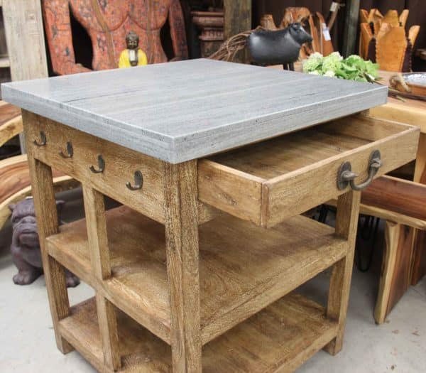 Marble Top Kitchen Free Standing Unit - Barron Imports