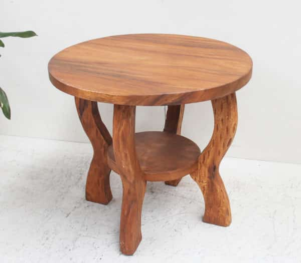 Small Table - Round Recycled Teak - Due September - Barron Imports