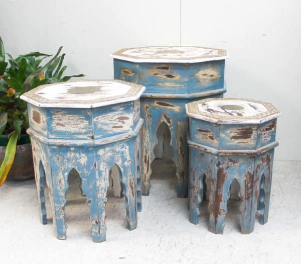 Set/3 Octagon Nesting Side Tables - Barron Imports