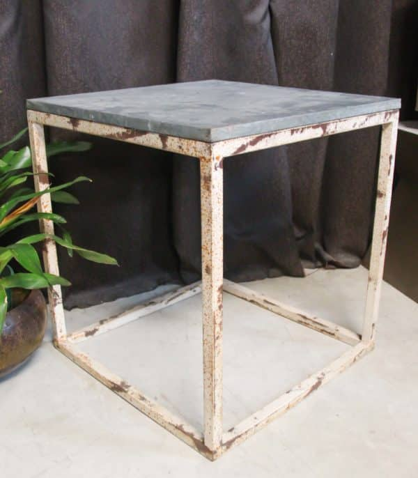 Iron Top Rustic Side Table - PR551 - Barron Imports