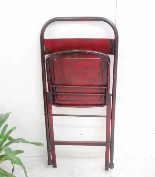 Vintage Iron Folding Chair - DA67 - Barron Imports