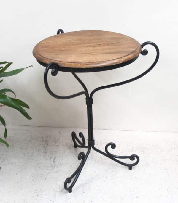 Wooden/Iron Cafe Table - PR572 - Barron Imports