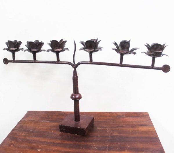 Flower Table Top 6 Candle Stand - PR468 - Barron Imports