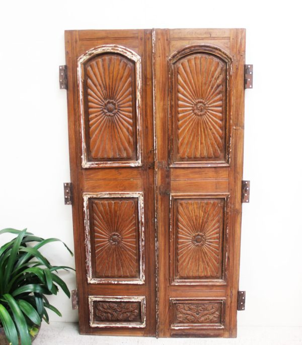 Vintage Hand Carved Shutters/Cupboard Door - A.Decor 13 - Barron Imports