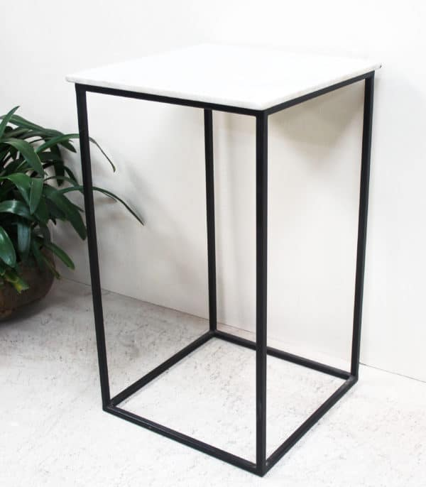 Marble Top Side Table - PR2-49b - Barron Imports