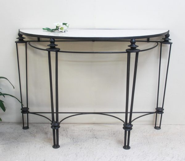 Curved Marble Top Console - PR2-50c - Barron Imports