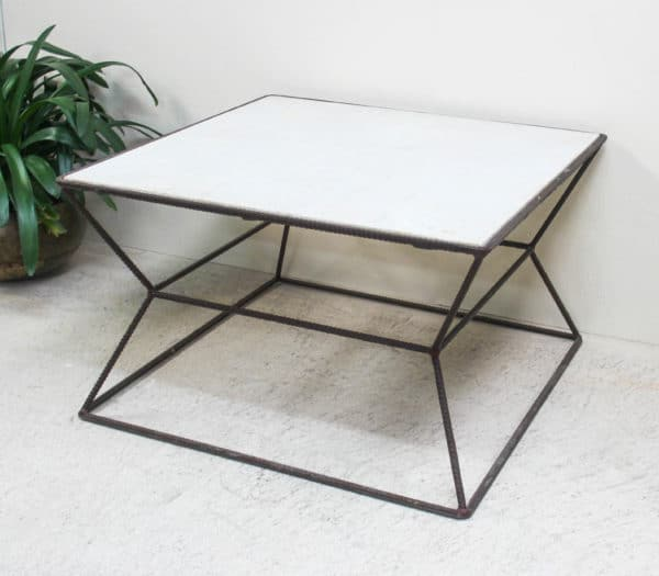 Reinforcing Iron Coffee Table - PR2-51e - Barron Imports