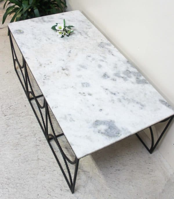 Marble Top Circle Coffee Table - PR2-51f - Barron Imports
