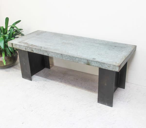 Iron Top Coffee Table with Case Iron Base - PR2-13L - Barron Imports
