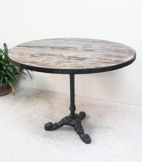 Recycled Teak Round Dining Table - PR2-40e - Barron Imports