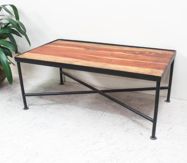 Small Teak and Iron Coffee/Side Table - PR504 - Barron Imports