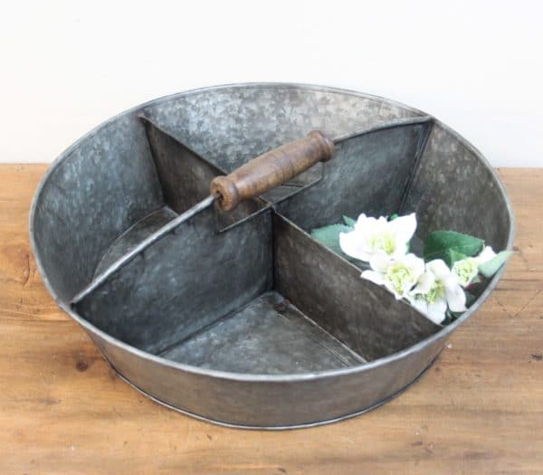 Rustic Iron Partitioned Tray - Barron Imports
