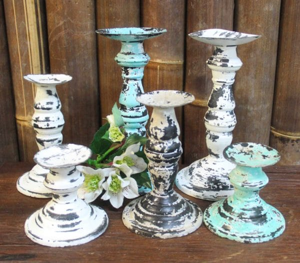 Rustic Candle Stands - Barron Imports
