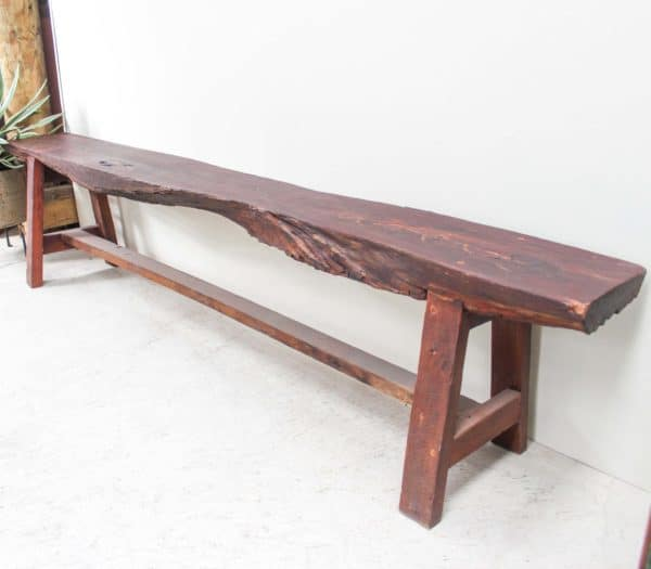 Rustic Rosewood Bench Seat - Pin A - Barron Imports