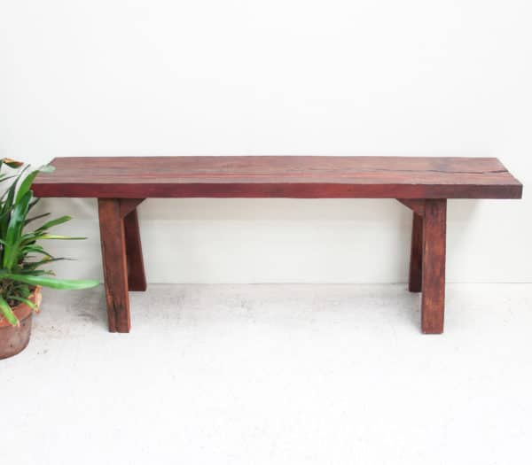 Rustic Rosewood Bench Seat - Pin18a - Barron Imports